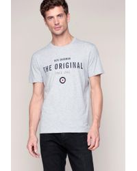 Ben Sherman | Gray T-shirt for Men | Lyst