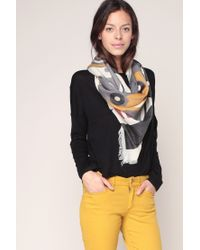 I.CODE By IKKS | Gray Scarf | Lyst