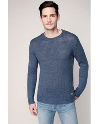 Denim & Supply Ralph Lauren   Blue Cotton-linen Crewneck Sweater for Men   Lyst