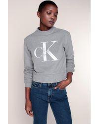 Calvin Klein | Gray Sweatshirt | Lyst