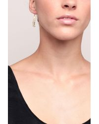 Pieces | White Earrings | Lyst