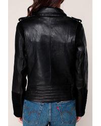 Maison Scotch - Black Leather Jackets - Lyst