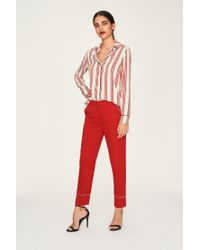 Idano - Red Straight-cut Trousers - Lyst