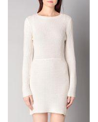ONLY - White Knitwear Dress - Lyst