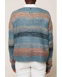 Numph - Blue Charlie Stripe Jumper - Lyst