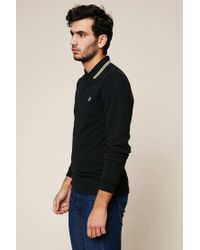 Fred Perry | Black Polo Shirt for Men | Lyst