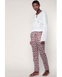 Vila - White Embroidered Tunics - Lyst