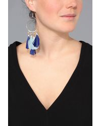 Pieces - Gray Earrings - Lyst