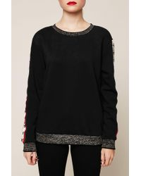Maison Scotch - Black Sweatshirt - Lyst