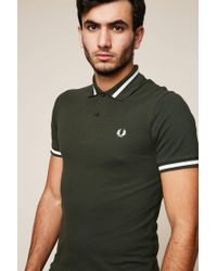 Fred Perry | Green Polo Shirt for Men | Lyst