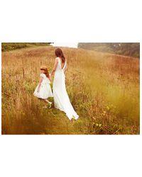 Monsoon White Alyssa Duchess Dress