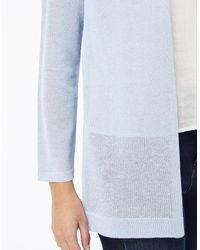Monsoon Blue Isla Tie Back Linen Blend Cardigan