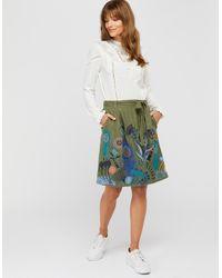 Monsoon Green Hallie Embroidered Skirt