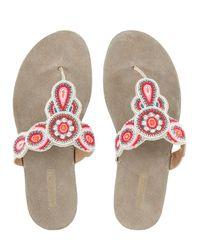 Monsoon Multicolor Bellamy Beaded Footbed Sandals