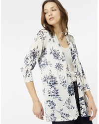Monsoon Multicolor Daria Print Linen Blend Cardigan