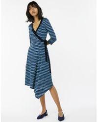 Monsoon Black Georgie Geo Print Dress