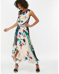 Monsoon White Suki Print Midi Dress