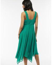 Monsoon Green Silvana Hanky Hem Dress