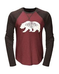The North Face Red Bearitage Baseball Ls Tee for men