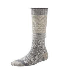 Smartwool - Gray Snowflake Flurry Sock - Lyst