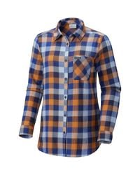 Columbia Blue Simply Put Ii Flannel Shirt