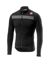 Castelli Black Puro 3 Full Zip Jersey for men