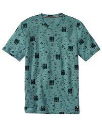 Smartwool Green National Park Poster Night Animals T-shirt - Short-sleeve for men