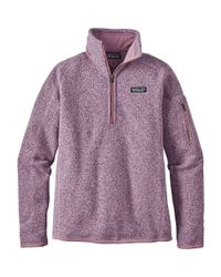 Patagonia - Purple Better Sweater 1/4 Zip - Lyst