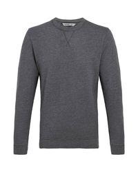 tasc Performance Gray Tasc Legacy Crew Neck Sweatshirt for men