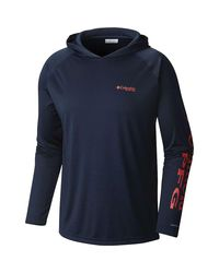 Columbia Blue Terminal Tackle Pullover Hoodie for men