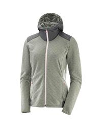 Yves Salomon Gray Elevate Full Zip Midlayer Hoodie