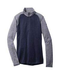 Smartwool - Blue Nts Mid 250 Zip T for Men - Lyst