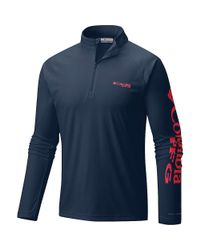 Columbia Blue Terminal Tackle 1/4 Zip Top for men