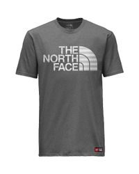 The North Face Gray Ic Ss Cotton Crew Tee for men