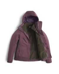 The North Face - Purple Helata Triclimate Jacket - Lyst