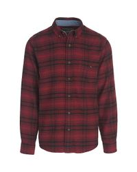 Woolrich Red Trout Run Classic Flannel Shirt for men