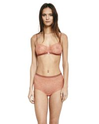 Morgan Lane - Pink Paris Bra In Lace Coral - Lyst