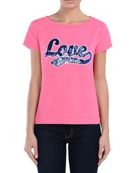 Love Moschino Pink Short Sleeve T-shirts