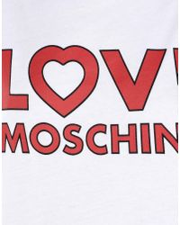 Love Moschino White Love Logo-print Jersey T-shirt