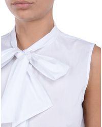 Love Moschino White Sleeveless Shirt