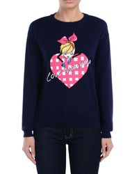 Love Moschino Blue Long Sleeve Sweater
