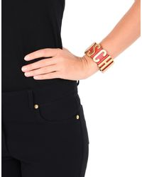 Moschino - Red Bracelet - Lyst