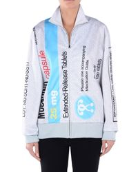 Moschino | Gray Zip Sweatshirt | Lyst