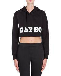 Felpa Cropped Gayboy di Moschino in Black