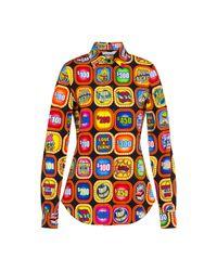 Chemise En Satin Et Viscose Trolls Moschino en coloris Multicolor