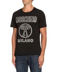 T-shirt En Jersey Double Question Mark Moschino pour homme en coloris Black