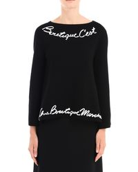 Boutique Moschino Black Long Sleeve Jumper