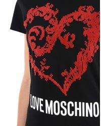 Love Moschino Black Short Sleeve T-shirts
