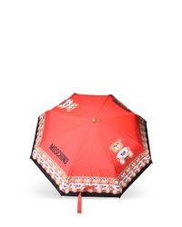 Moschino Red Mini Umbrella