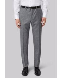 French Connection | Gray Slim Fit Light Grey Texture Trousers for Men | Lyst